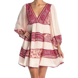Free People My Love Long Sleeve Mini dress (Sz S)